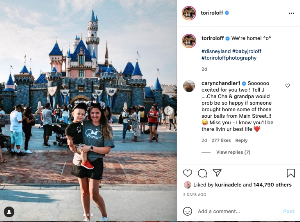 Tori Roloff And Jackson Visit DisneyLand - Where Are Lilah And Zach?
