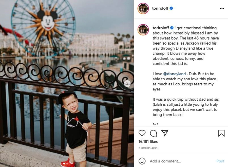 Tori Roloff And Jackson Visit DisneyLand - Where Are Lilah And Zach