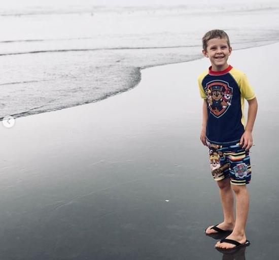 Israel Dillard at the beach