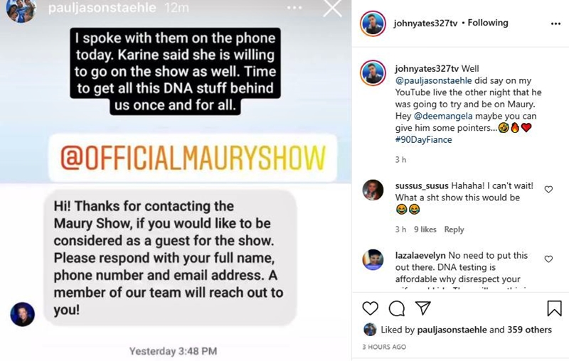 90 Day Fiance Paul Staehle and Karine Applied For The Maury Show