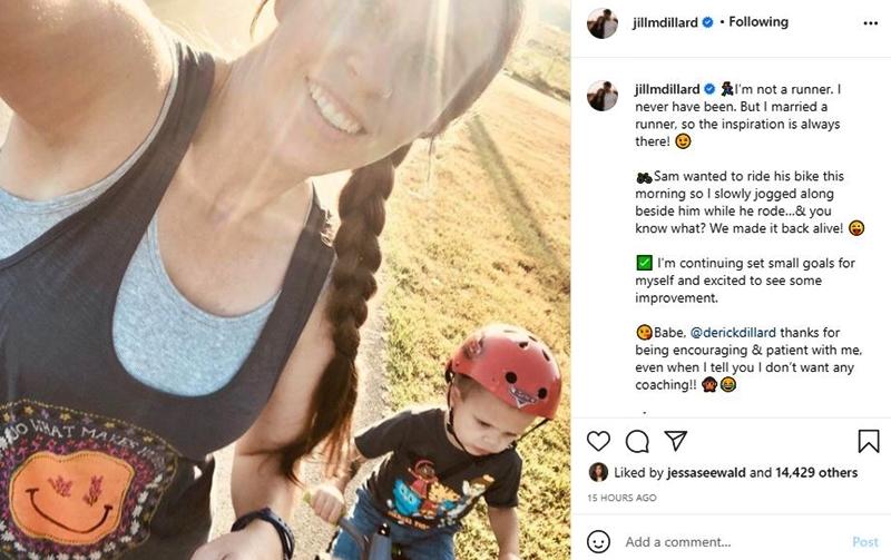 Jill Dillard Challenges Herself As She Jogs With Samuel